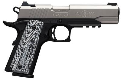 Browning 051927492 1911 Black Label Pro with Rail Single 380 Automatic Colt Pistol (ACP) 4.25