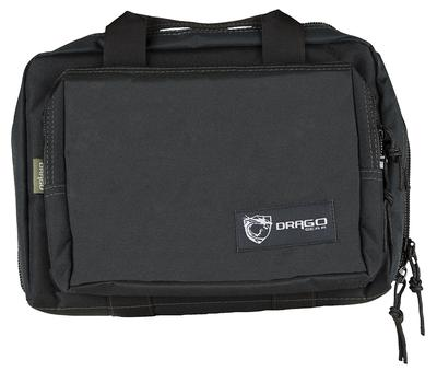 DRAGO GEAR DOUBLE PISTOL CASE BLK