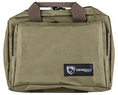 DRAGO GEAR DOUBLE PISTOL CASE GRN