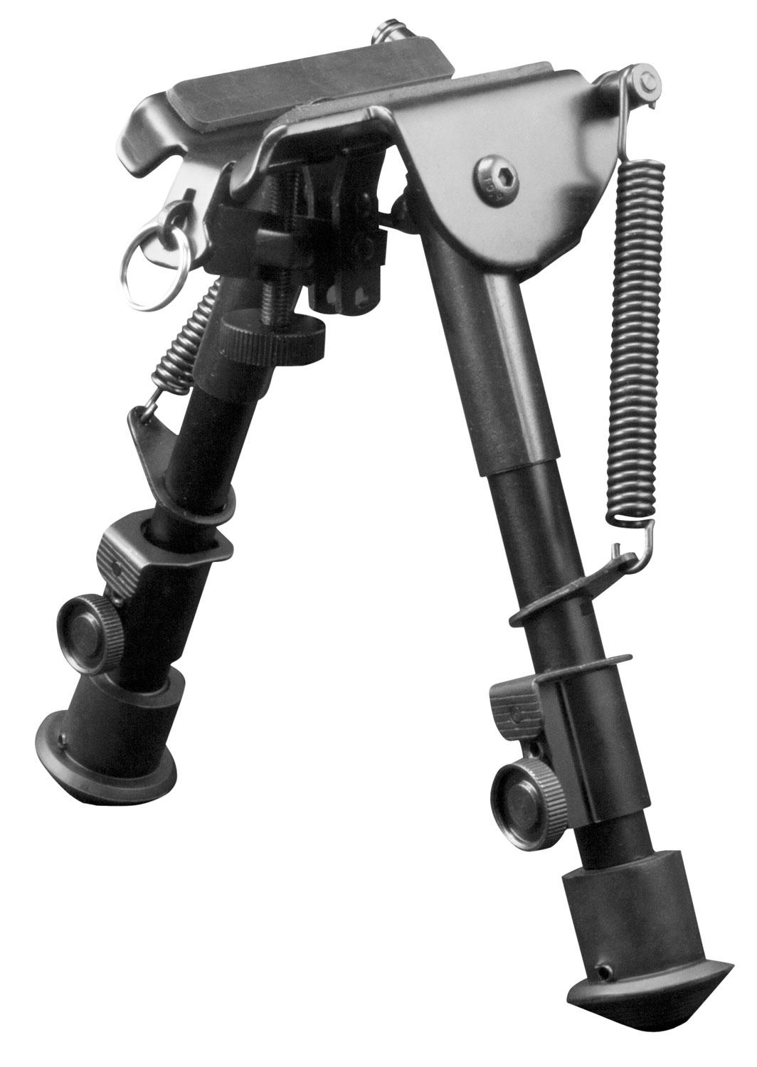 Aim Sports Bphs01 H- Style Bipod Black Aluminum And Carbon Steel 6.5- 9