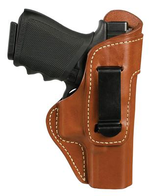 Blackhawk 421406BNR Inside The Pants Clip Holster  S&W J Frame Leather Brown