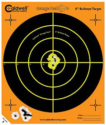 Caldwell 120-556 Orange Peel Targets Bullseye 12