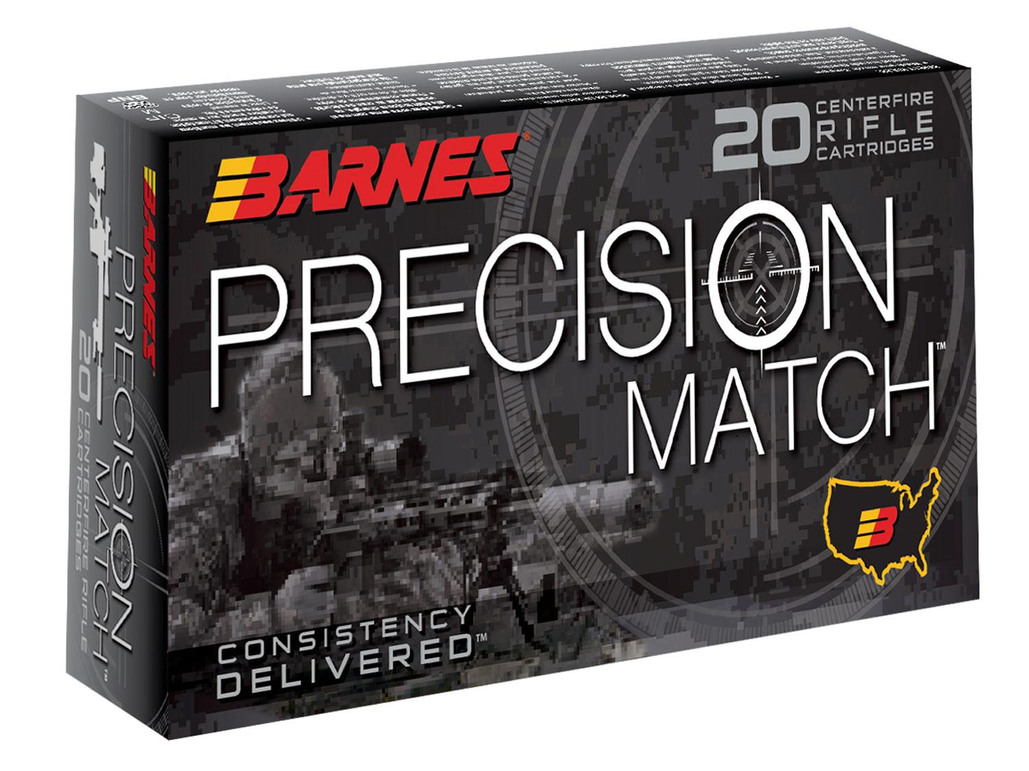 Barnes Bullets 30166 Precision Match 6.5 Creedmoor 140 Gr Open Tip Match Bt 20 Bx/10 Cs