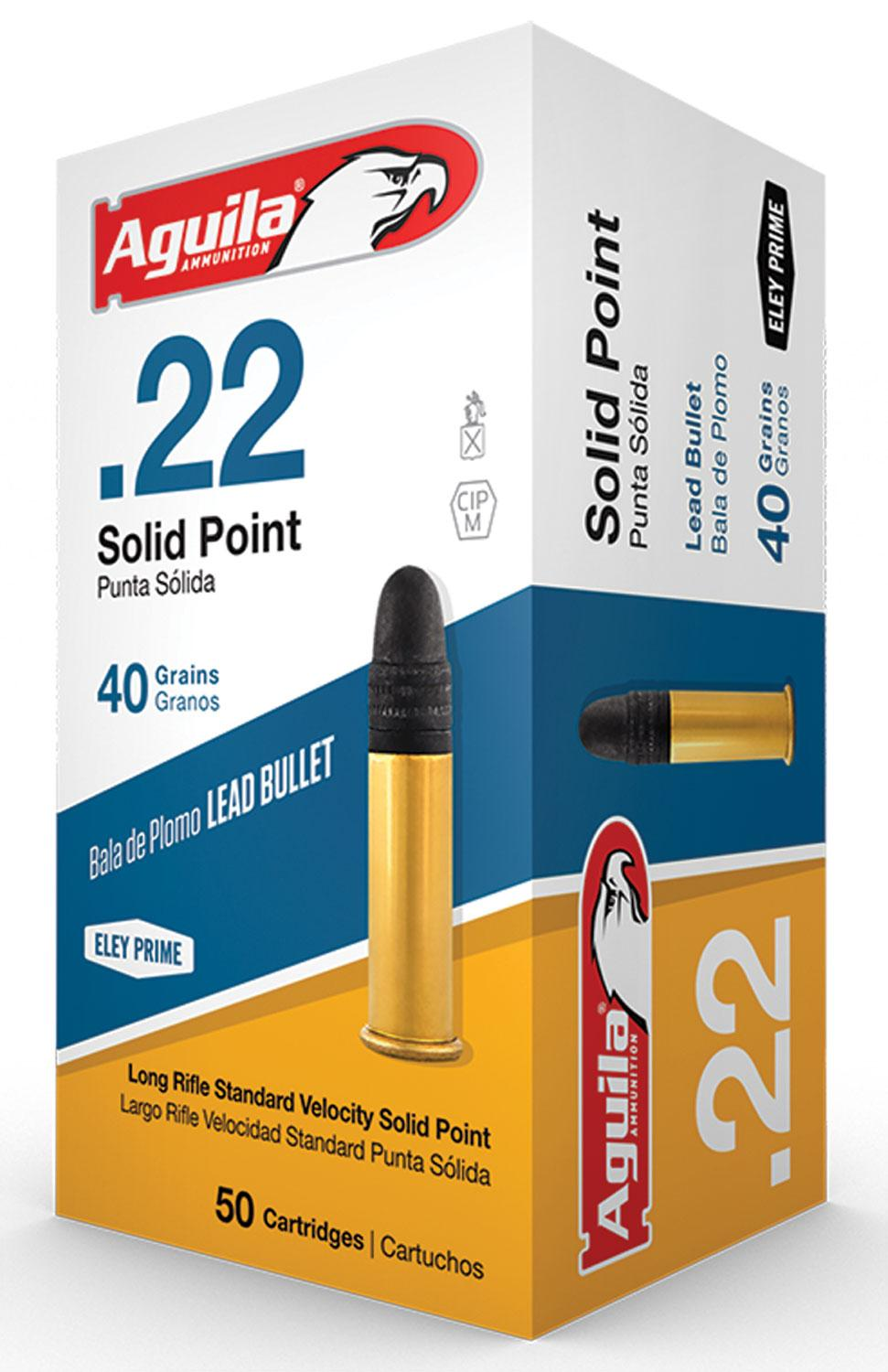 Aguila 1b222332 Standard Velocity 22 Long Rifle (Lr) 40 Gr Solid Point 50 Bx/100 Cs