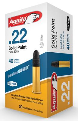 Aguila 1B222332 Standard Velocity 22 Long Rifle (LR) 40 GR Solid Point 50 Bx/ 100 Cs