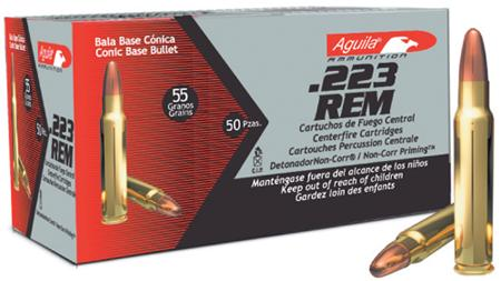 Aguila 1e223110 223 Remington 55 Gr Full Metal Jacket 50bx/20cs