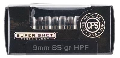 Ammo Inc 9085HPF OPS 9mm Luger 85 GR Hollow Point 20 Bx/ 10 Cs
